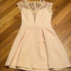Bcbgeneration blush lace back cocktail dress
